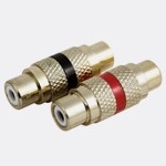 BM106 Gold Female to Female Metal Barrel Connector
